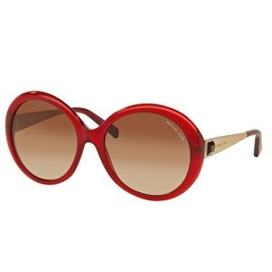 NWOT Michael Kors Ruby Red Sunglasses